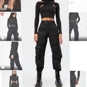 THE KRIPT Slayer Pocket Black Pants
